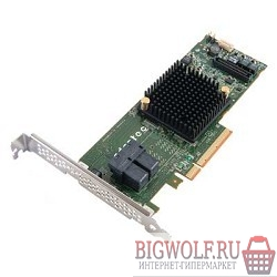 картинка adaptec asr-7805 kit 2274200-r {pci-e v3 x8, lp, sas 6g, raid 0,1,10,5,6.., 8port(int 4*sff8643), 1gb cache} в интернете магазине BIGWOLF.RU