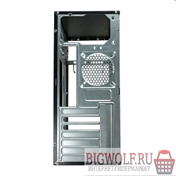 картинка корпус miditower fox 2801-bs 450w black+silver {atx, 24pin, 4*4pin, 2*sata,1*pci-e, 2*usb, audio, air duct} в интернете магазине BIGWOLF.RU. Фото N2