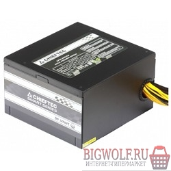 картинка блок питания chieftec 650w rtl {atx-12v v.2.3 psu with 12 cm fan, active pfc, fficiency >80% with power cord 230v only} в интернете магазине BIGWOLF.RU