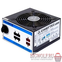 картинка блок питания chieftec 650w rtl {atx-12v v.2.3/eps-12v, ps-2 type with 12cm fan, pfc,cable management ,efficiency >85 , 230v only} в интернете магазине BIGWOLF.RU
