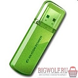 картинка silicon power usb drive 16gb helios 101 sp016gbuf2101v1n {usb2.0, green} в интернете магазине BIGWOLF.RU