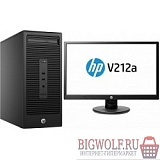 картинка bundle hp 280 g2 mt i3-6100/4gb/500gb/dvdrw/dos/k+m/+ monitor v213a в интернете магазине BIGWOLF.RU