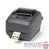 картинка zebra gk420t черный {tt printer, 203 dpi, euro and uk cord, epl, zplii, usb, serial, centronics parallel} в интернете магазине BIGWOLF.RU